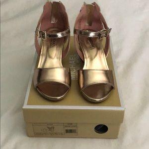 b39d52b5178 MICHAEL Michael Kors Shoes - Michael Kors Gemini Jones rose gold dress  sandal